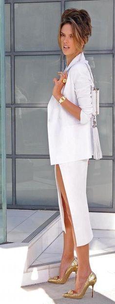 Chanel Jacket & skirt in white <3