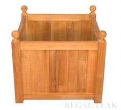 23 Natural Teak Outdoor Patio Wooden Mission Planter *** Details can be found by clicking on the image.