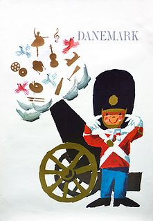 Denmark vintage travel poster