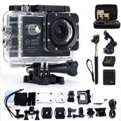 Action Camera gopro hero 4 style Waterproof 30m wifi 170 degrees 1080p 30fps Outdoor Sport Activities video Camera