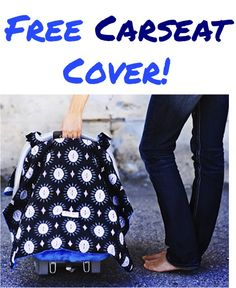 Free Super Cute Carseat Cover! {just pay s/h} ~ this makes a great Baby Shower gift, too!