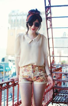 Flashes of Style: Floral Short Shorts