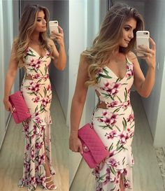 floral long prom dresses, sexy sheath prom party