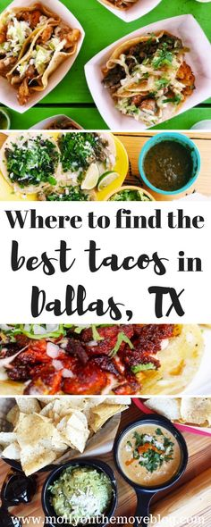 Did you come to Texas for the Tex-Mex? Then you are in luck because Dallas, TX is full of some of the most amazing tacos and tex-mex around! Click the pin for where to find the best tacos in Dallas, TX