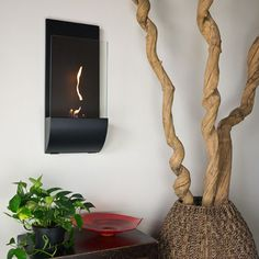 Nu-Flame Cannello Wall Mounted Decorative Fireplace