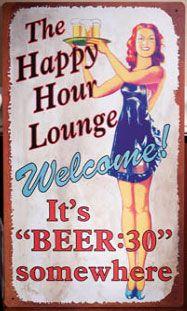 Beer Thirty Metal Sign