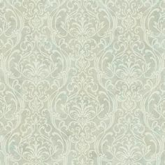 York Wallcoverings Charlotte Delicate x Damask Wallpaper Roll Colour: Blue/Green/Beige/Cream Brick Wallpaper Roll, Trellis Wallpaper, Botanical Wallpaper, Wallpaper Panels, Of Wallpaper, Flower Wallpaper, Bedroom Wallpaper, Gold Damask Wallpaper, Embossed Wallpaper