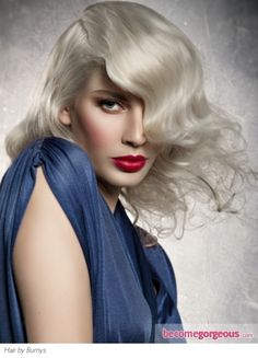 Awesome hair & makeup...love the lipstick
