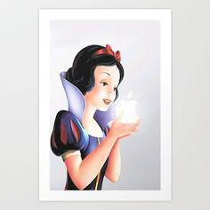 Snow White Art Print by Zoe Kay - $15.00