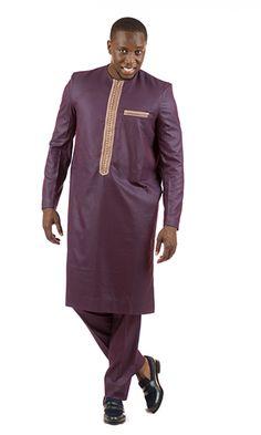 Costume Africain, Gents Kurta Design, Latest African Fashion Dresses, Kurta Designs, Mauve, Cotton Fabric, Mens Fashion, Costumes, Suits