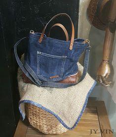 청바지리폼 북 데님 숄더백 : 네이버 블로그 Louis Vuitton Neverfull, Denim Jeans, Tote Bag, Bags, Fashion, Sewing Tips, Kitchen, Accessories, Blue Prints