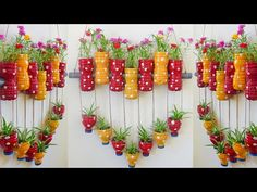 Unique Ideas, Recycle Plastic Bottles into Heart-shaped Flower Pot ( moss rose ) For Garden - YouTube Diy Crafts Hacks, Diy Home Crafts, Garden Crafts, Reuse Plastic Bottles, Plastic Bottle Crafts, Hanging Flower Pots, Hanging Plants, House Plants Decor, Plant Decor