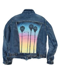 Hand painted jacket by Natus  Palm Skyline by StreetcraftLA, $275.00