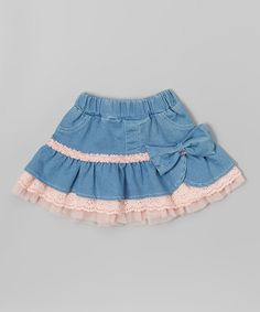 Look at this Pink & Blue Ruffle Skirt - Toddler & Girls on #zulily today!