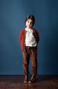 Love red + brown together. #kids #designer #fashion