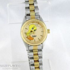 Vintage Armitron Tweety Bird Ladies Watch Warner Bros Two Tone Band SuzePlace.com