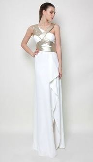 Modern Greek style... Wedding dress by Greek fashion designer Costarellos