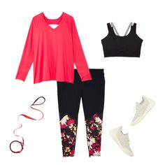 b44f6efd2e0 Plus Size Clothing and Personal Styling for Women. This bright pink top  makes the printed leggings ...
