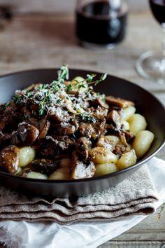 Gnocchi with Mushroom Ragu... Earthy, creamy, cheesy & fresh...truly divine!