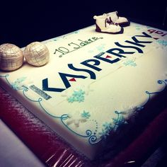 From @KasperskyLabDE (on Instagram) Translation from image: Last night we had our Christmas party. In addition, there was a delicious birthday cake for 10 years of existence of Kaspersky Lab in Germany. #Kaspersky #kasperskylab #kuchen #feier #cake #birthday #geburtstag