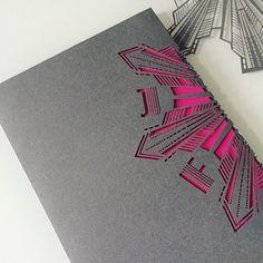 #s216 #wedding #invitation #paper #cards #artdeco #glamour #glitz #1920s #gatsby #leaf #afterlight #fuchsia #galvanized #silver #bling #lasercut #letterpress #foil #cayman #345 #events #marriage #nuptials #custom #design #miamiwedding #lasermonogram by studiotwosixteen