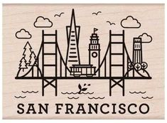 Hero Arts Rubber Stamp DESTINATION SAN FRANCISCO  rubber stamps for scrapbooks and scrapbooking (aff link)