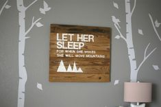 Woodland Nursery for Baby Girl | Project Nursery  Change too him- great way to use up old planks of wood