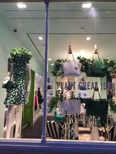 """KATE SPADE, London, England, """"Celebrating the arrival of SPRING with fresh leaves"""", pinned by Ton van der Veer"""