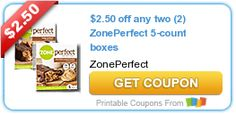 $2.50 off any two (2) ZonePerfect 5-count boxes