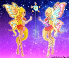 Well, guess everyone knows that now we have 2 Enchantix. I don't like the design of the new one, but at least it's Enchantix ^^ Stella find her old se. [WC] Fairy of the shining sun Winx Club, Winx Magic, Les Winx, Real Fairies, The Shining, Magical Girl, Disney Love, Anime Art, Character Design