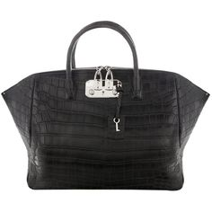 VBH Crocodile leather tote found on Polyvore