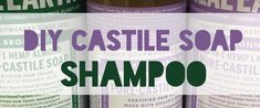 Incredibly Easy DIY Castile Soap Shampoo - Ecofriendly | MLMR Travel Castile Soap Shampoo, Pure Castile Soap, Glycerin Soap, Diy Hair Shampoo, Shampoo Bar, Soap Display, Homemade Soap Recipes, Lavender Soap, Lotion Bars