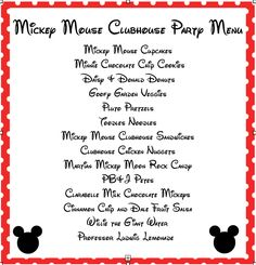 mickey mouse clubhouse printable signs   Mickey Mouse Party Food Ideas from playpartypin.com #MickeyMouse # ...