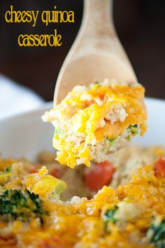 An easy casserole packed wiht quinoa, cheese, and vegetables!
