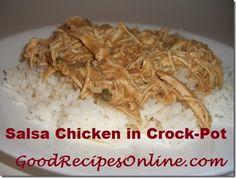 Salsa Chicken in crock-pot