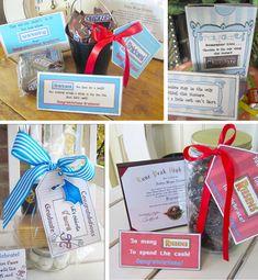 Fun Graduation Gift Ideas! Riesens, Chocolate and a little cash.