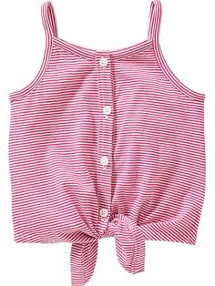 Striped Tie-Front Tanks for Baby