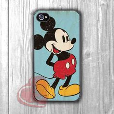 Mickey Mouse Vintage Art Blue - zzd for iPhone 4/4S/5/5S/5C/6/6+s,Samsung S3/S4/S5/S6 Regular/S6 Edge,Samsung Note 3/4