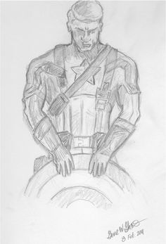 "A quick drawing based on the ""captain america: the first avenger"" movie poster. Marvel Drawings, Art Drawings Sketches, Disney Drawings, Captain America Drawing, Captain America Art, Marvel Avengers Comics, Avengers Movies, Poster Boys, Drawing Base"