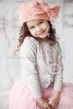 ORIGINAL Little Girl Hat Baby Girl Outfit by CBCrochetedCreations, $56.00 how cute is she