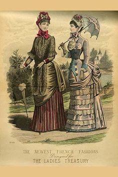 Newest French Fashions - 1884