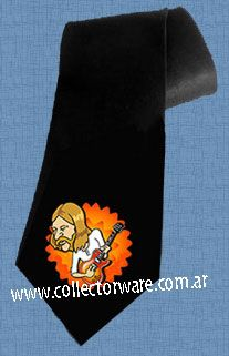 ALLMAN BROSTHERS Duane Allman cartoon 1 DELUXE ART CUSTOM HANDPAINTED TIE  $28.00 + shipping   *Please see details at http://www.collectorware.com.ar/neckties-allmanbros_andrelated.htm