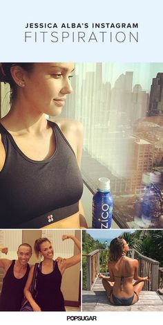 """Pin for Later: Jessica Alba's Strong and Healthy Instagrams Will Inspire You to Adopt an """"I Can Do It"""" Attitude"""