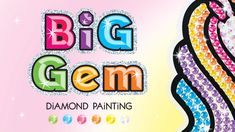 Diamond Painting for Kids - Big Gem Diy Crafts For Girls, Gem Diamonds, Diamond Art, Kits For Kids, Painting Videos, Piece Of Cakes, Painting For Kids, Craft Kits, Mosaic Art