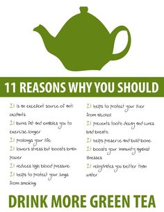 11 Reasons why you should drink green tea!