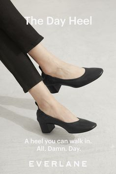 0d0f7fbb21b A heel you can walk in. All. Damn. Day. This ballet-. Everlane