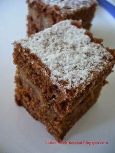 """Ez is egy olyan süti, hogy """"hamar kellene, egyszerű legyen, most jutott eszembe és nincs semmi hozzávaló"""". Tehát annyi az egész, hogy benéz... Köstliche Desserts, Delicious Desserts, Gourmet Recipes, Cake Recipes, Food Cakes, Special Recipes, Sweet And Salty, Pastries, Xmas"""