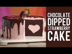 How To Make A Hidden Surprise Heart Cake - YouTube