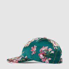 a8aa3f19346 Gucci Blooms silk baseball hat Mens Gucci Hat