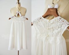 Boho Beach  Ivory /off white Lace Chiffon Flower by MonbebeLagos